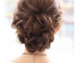 結婚式の髪型(ヘアアレンジ) 海外セレブ風-271x214