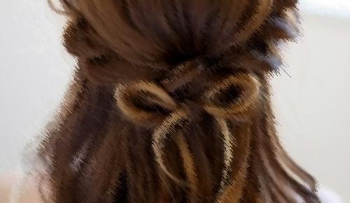 結婚式 髪型 ロング 小顔