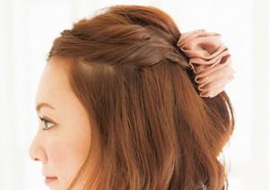 結婚式 髪型 ショート 編み込み 簡単